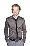 Aggressive Young Man Royalty Free Stock Photos