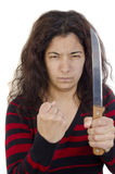 Aggressive young woman Royalty Free Stock Photo