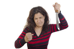 Aggressive young woman Royalty Free Stock Images
