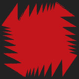 Aggressiver bunter starker abstrakter Hintergrund des roten schwarzen Winkels Lizenzfreie Stockfotografie