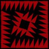 Aggressiver bunter starker abstrakter Hintergrund des roten schwarzen Winkels Lizenzfreie Stockbilder