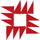 Aggressiver bunter starker abstrakter Hintergrund des roten weißen Winkels Lizenzfreies Stockbild
