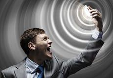 Aggressives Management Stockfotografie