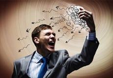 Aggressives Management Stockfoto