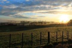 Aggricultural-Sonnenaufgang Stockbilder