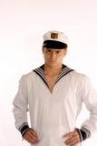 Aggrottare le sopracciglia dell'uomo del marinaio Immagini Stock Libere da Diritti
