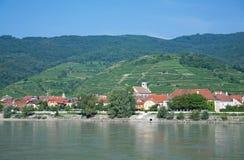 Aggsbach Wachau dal, Österrike Royaltyfri Fotografi