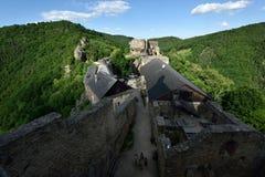 Aggstein城堡,瓦豪,奥地利 库存照片