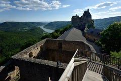 Aggstein城堡,瓦豪,奥地利 免版税图库摄影