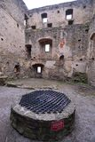 Low angle view of Castle Burgruine Aggstein royalty free stock photography