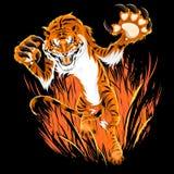 Agguato della tigre Fotografia Stock
