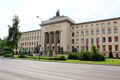 AGH uniwersytet nauka i technika W Krakow, Polska Fotografia Royalty Free
