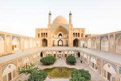 Agha Bozorg meczet w Kashan, Iran Zdjęcie Royalty Free