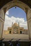 Agha Bozorg meczet w Kashan przy światłem dziennym i szkoła, Iran Obraz Stock