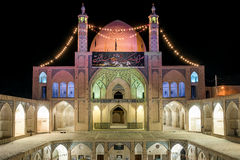 Agha Bozorg Mosque in Kashan, Iran Stock Photos