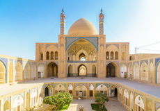 Agha Bozorg mosque in Kashan in Iran Royalty Free Stock Images