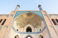 Agha Bozorg Mosque in Kashan, Iran Royalty Free Stock Photography