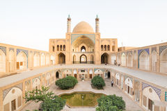 Agha Bozorg Mosque in Kashan, Iran Royalty Free Stock Photo