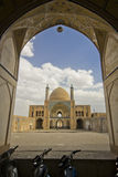 Agha Bozorg school and mosque in Kashan at daylight, Iran Stock Image