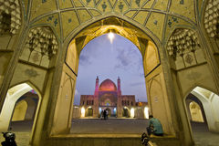 Agha Bozorg school and mosque in Kashan in evening, Iran Royalty Free Stock Image