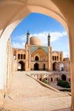 Agha Bozorg skola och moské i Kashan Royaltyfri Foto