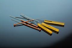 Aghi di agopuntura Fotografia Stock Libera da Diritti