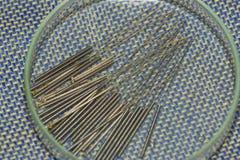 Aghi di agopuntura Fotografie Stock