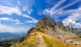 Aghi di Chabrieres del parco nazionale di Ecrins di estate Alpi, Francia Immagine Stock