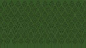 Aghi di verde di Lotus su un fondo verde immagine stock