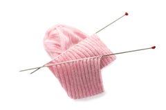 Aghi per lavorare a maglia Immagini Stock Libere da Diritti