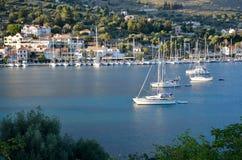 Aghia Efimia port Zdjęcia Royalty Free