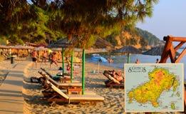 Aghia Eleni Beach Skiathos. Aghia Eleni Beach scene Skiathos stock image