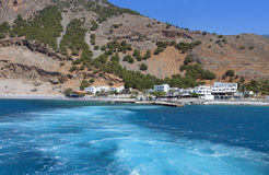Aghia Roumeli at Crete island in Greece Stock Image