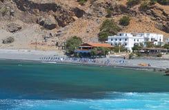 Aghia Roumeli en la isla de Crete en Grecia foto de archivo libre de regalías