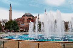Aghia Sophia in Istanbul, Sultanahmet Square Stock Photography