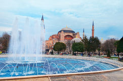 Aghia Sophia in Istanbul, Sultanahmet Square Royalty Free Stock Image