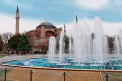 Aghia Sophia w Istanbuł, Sultanahmet kwadrat Fotografia Stock