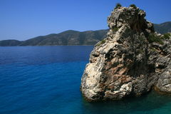 Aghiofili beach on Lefkada, Greece Royalty Free Stock Images