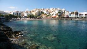 aghios beach Krety Nikolaos Obraz Royalty Free