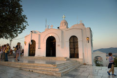 Aghios Georgios Church at sunset Royalty Free Stock Photos