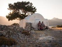 Aghios Ioannis, Tilos wyspa Zdjęcia Royalty Free