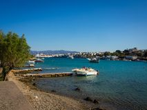 Aghios Nicolaos harbor, view from the hill Royalty Free Stock Photo