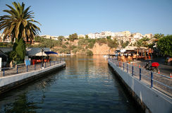Aghios Nikolaos lake_2062 Stockbild
