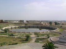 Aghlabid pools. Aghlabid aqueduct system in Kairouan (Tunisia stock photos