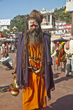 Aghori Sage at Haridwar, India. Haridwar is a religious city of India, which attracts the pilgrims and devotees across the world. Hundreds of Aghori sages came Royalty Free Stock Photography