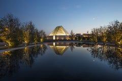 Agi Khan muzeum ogród przy zmierzchem Zdjęcia Stock
