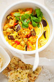 Agi saga curry z butternut, aubergine chickpeas Obrazy Royalty Free