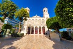 Agia纳帕大教堂 塞浦路斯利马索尔码头 免版税库存图片