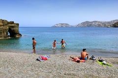 Agia佩拉贾海滩 免版税库存图片