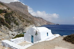Agia Anna στο νησί της Αμοργού, Ελλάδα Στοκ εικόνες με δικαίωμα ελεύθερης χρήσης